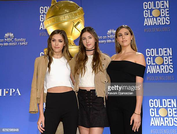 Sistine Stallone Scarlet Stallone and Sophia Stallone attend the Nominations Announcement For The 74th Annual Golden Globe Awards at The Beverly...
