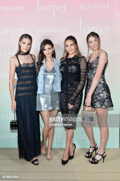 Sistine Stallone Victoria Justice Scarlet Stallone and Sophia Stallone attend harper x Harper's BAZAAR May Issue Event Hosted by The Stallone Sisters...