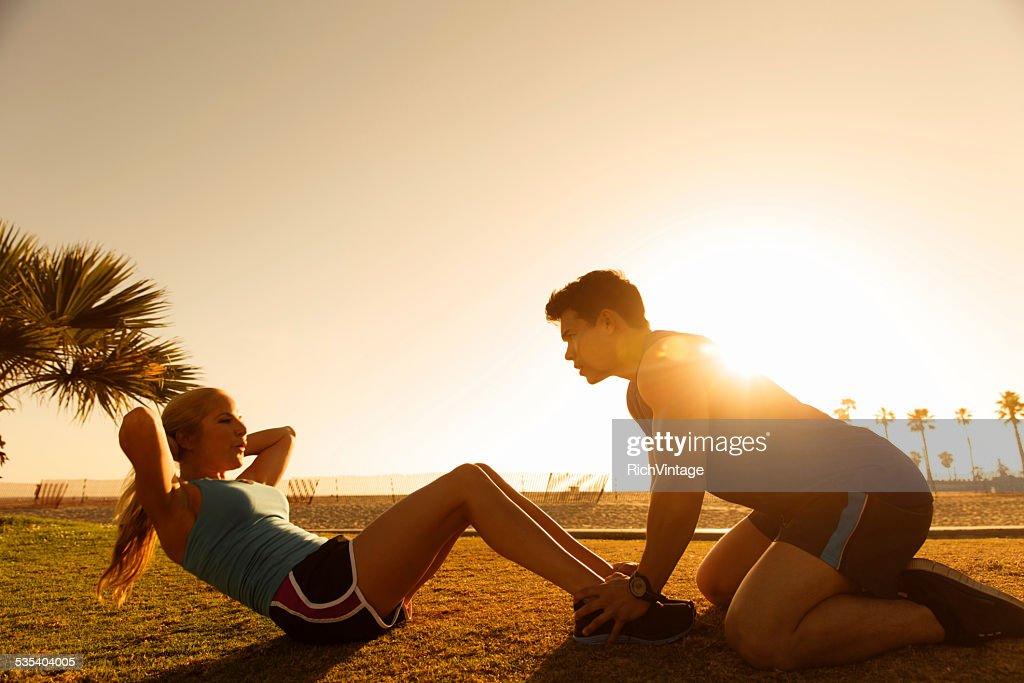 Sit Ups at Sunset