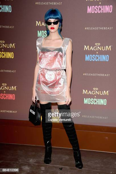Sita Abellan attends Magnum party during the 70th annual Cannes Film Festival at Magnum Beach on May 18 2017 in Cannes France