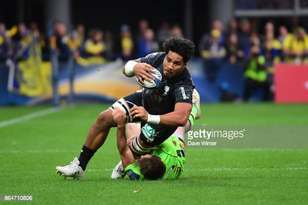 Sitaleki Timani of Clermont takes on Nic Groom of Northampton during the European Rugby Champions Cup match between Clermont Auvergne and Northampton...