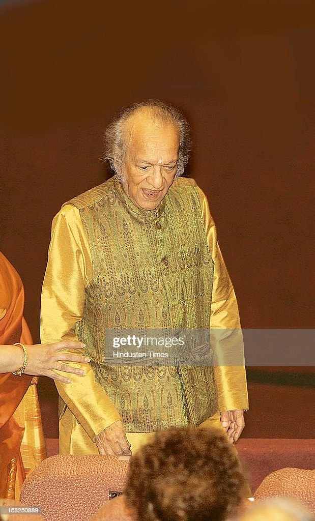 Sitar maestro Pandit Ravi Shankar during a music concert that was held to mark the 50th anniversary of Martin Luther King's visit to India in 1959 on February 16, 2009 in New Delhi, India. Sitar maestro and Bharat Ratna Pandit Ravi Shankar passed away at age of 92 in San Diego on December 11, 2012.