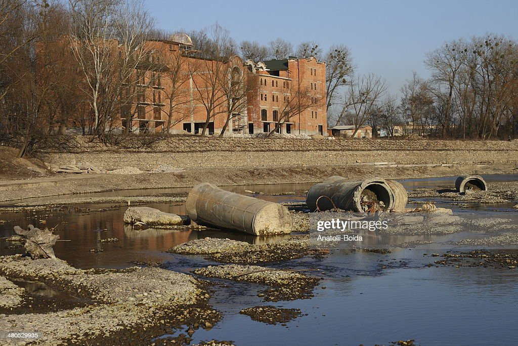 Site area at the river : Stock Photo