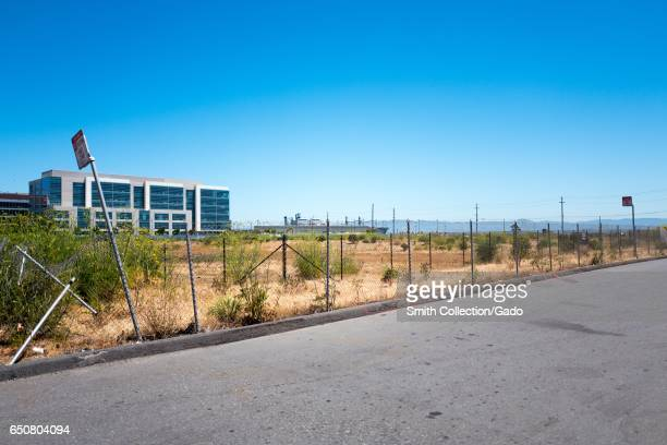 Site of the Golden State Warriors basketball team's new stadium Chase Center as it appeared in June of 2016 before construction of the stadium had...