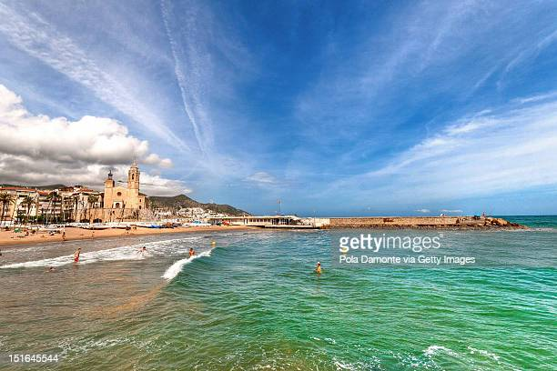 Sitges beach and Church