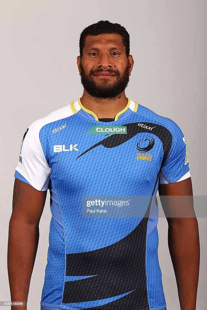 Sitiveni Mafi poses during the Western Force 2016 Super Rugby headshots session on February 9, 2016 in Perth, Australia.