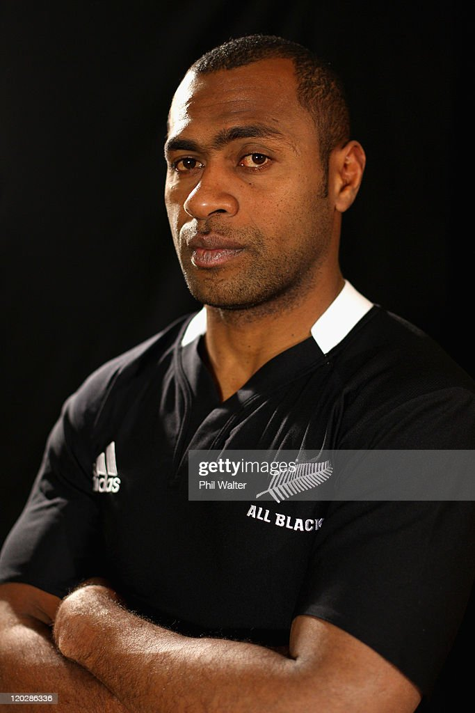 Sitiveni Sivivatu of the All Blacks poses for a portrait during a New Zealand All Blacks media session at the Heritage Hotel on August 4, 2011 in Auckland, New Zealand.