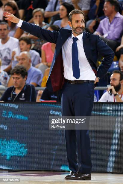 Sito Alonso during the Liga Endesa match between FC Barcelona v Baskonia in Barcelona on September 29 2017