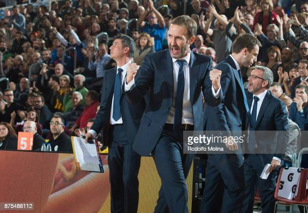 Sito Alonso Head Coach of FC Barcelona Lassa in action during the 2017/2018 Turkish Airlines EuroLeague Regular Season Round 8 game between FC...