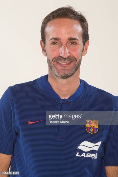 Sito Alonso Head Coach poses during FC Barcelona Lassa 2017/2018 Turkish Airlines EuroLeague Media Day at Palau Blaugrana on September 25 2017 in...