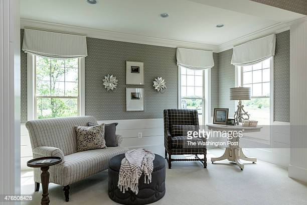 Sitting Area in the Master Bedroom at the Sierra Model Home at Fawn Lake on May 28 2015 in Spotsylvania Virginia