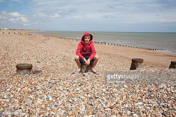 Sitting Beach Boy