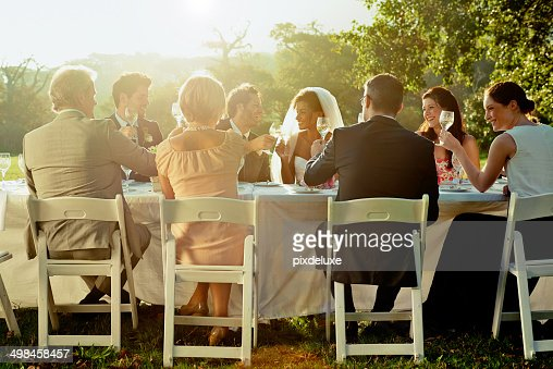 Sitting down to a table of friends and family