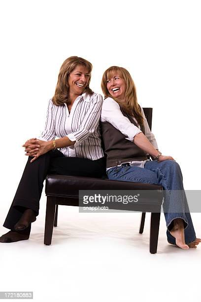 Sitting Happy Women
