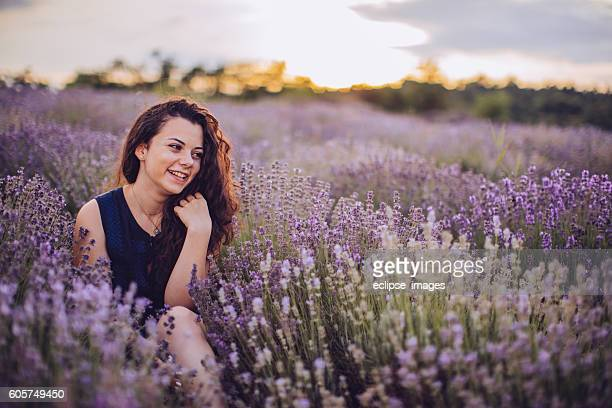 Sitting in lavender