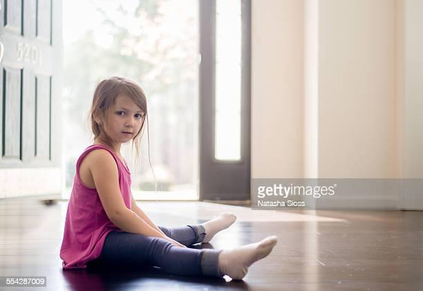 Sitting in the doorway