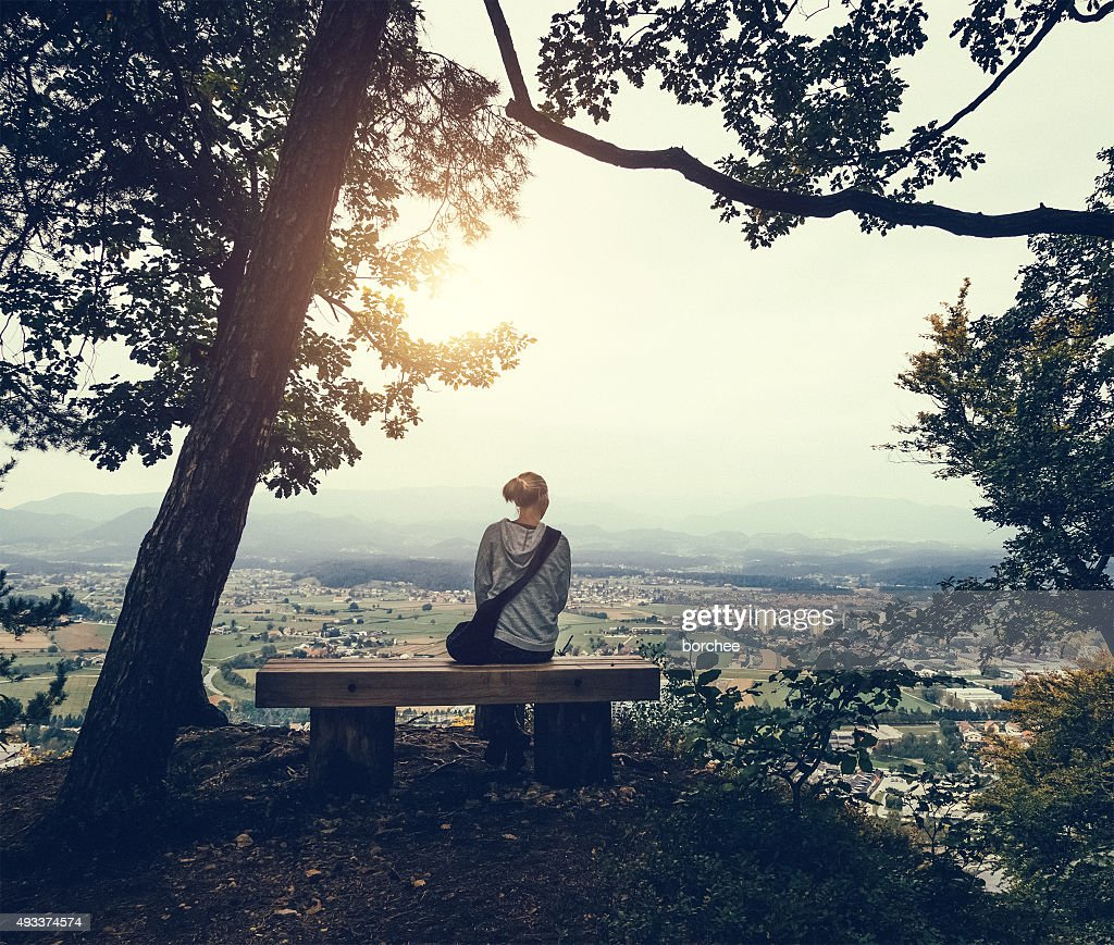 Sitting In The Forest Above The City