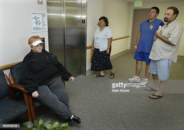 ––Sitting in the lobby of the Cath lab in her fat suit Jeanne Jones scouts out the needs of overweight patients Jones is Executive Director of...