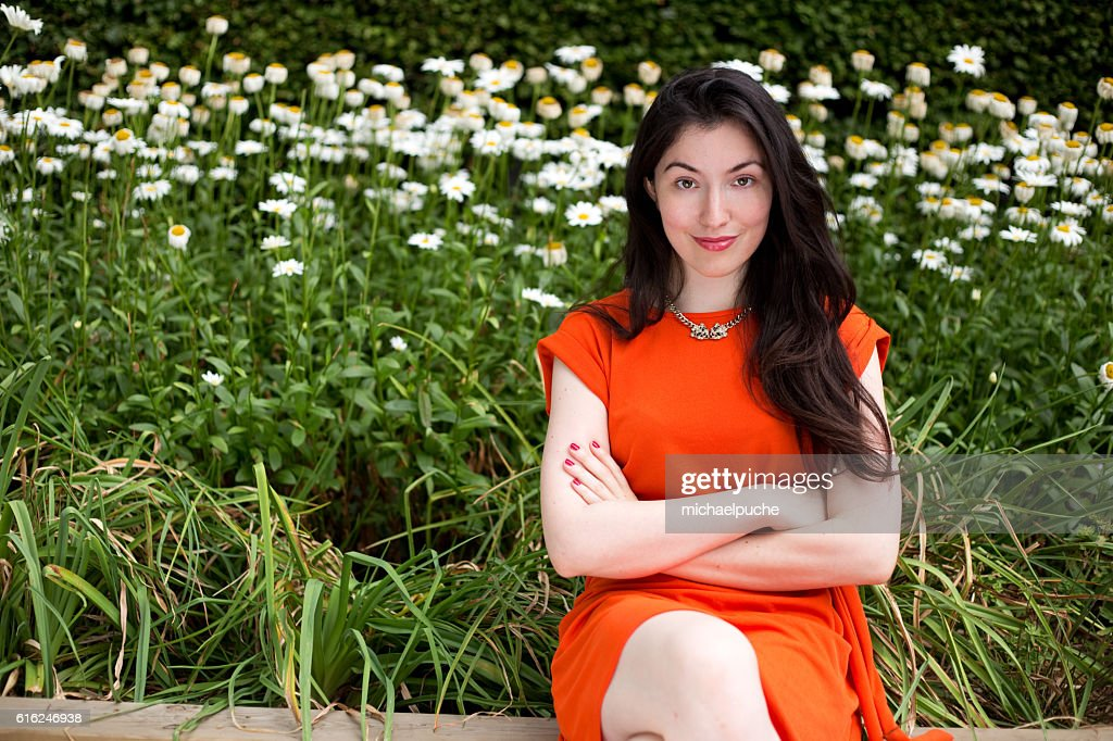 sitting in the park : Stock Photo