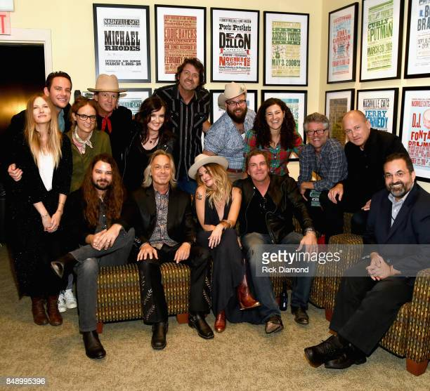Sitting L/R Brent Cobb Jim Lauderdale Elizabeth Cook Jack Ingram and Kary Antholis HBO Standing L/R Molly Jenson Sam Outlaw Michelle Aquilato...