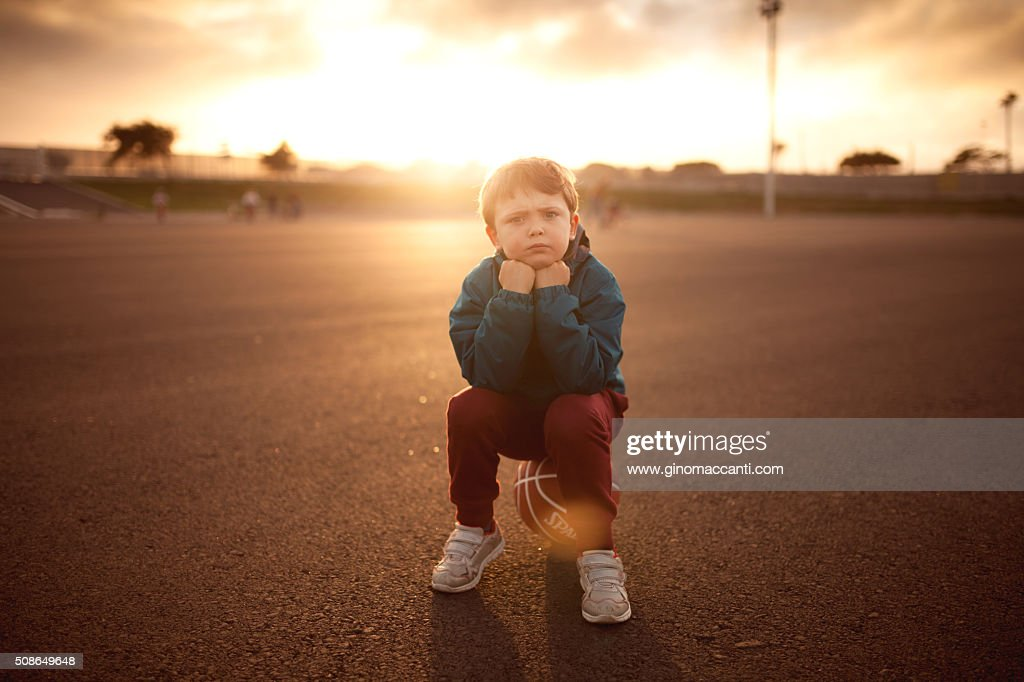 Sitting on ball : Stock Photo