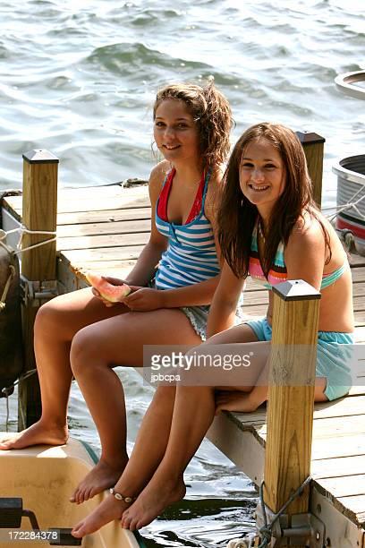 Sitzt auf dem dock