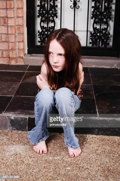 Seduto sulla veranda