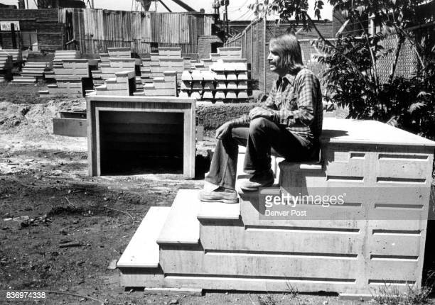 Sitting On The Stairway To Success Robert Anderson perches on the principal product of his Denver company Anderson Unit Step of Colorado Inc The...