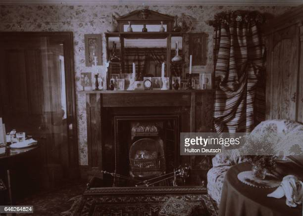 A sitting room at the Mar Estate Lodge once home to Princess Louise daughter of Edward VII and her husband the Duke of Fife features a cozy fireplace