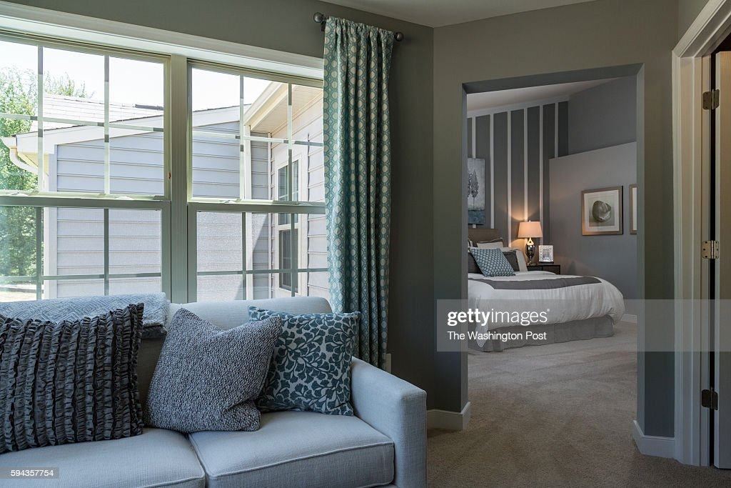 Sitting Room in Master Bedroom in the Glasgow Model at Admirals Ridge on August 11 2016 in Arnold Maryland