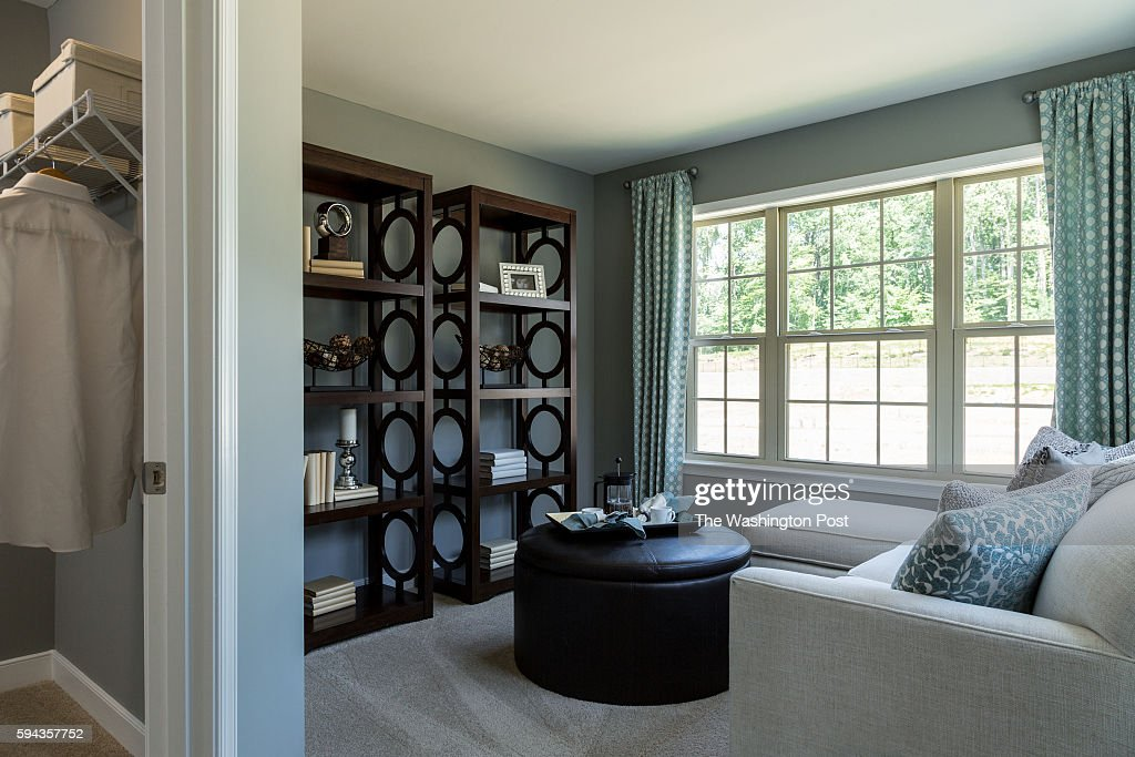 Sitting Room in Master Bedroom showing Walk In Closet in the Glasgow Model at Admirals Ridge on August 11 2016 in Arnold Maryland