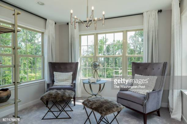 Sitting Room in the Master Suite of the Glasgow model Townehome at Chapel Creek Village on July 31 2017 in Gambrills Maryland