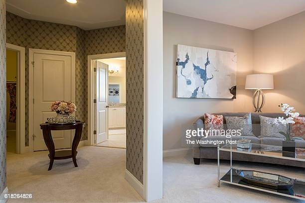 Sitting Room in the Second Floor Master Suite with view of the Master Bath and Walk In Closets in the Hawthorn Model at Maple Lawn on January 19 2016...