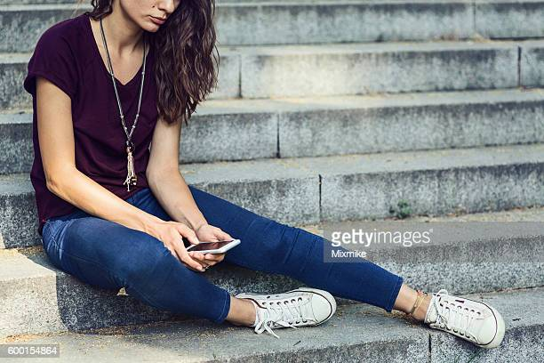 Sitting sad and alone
