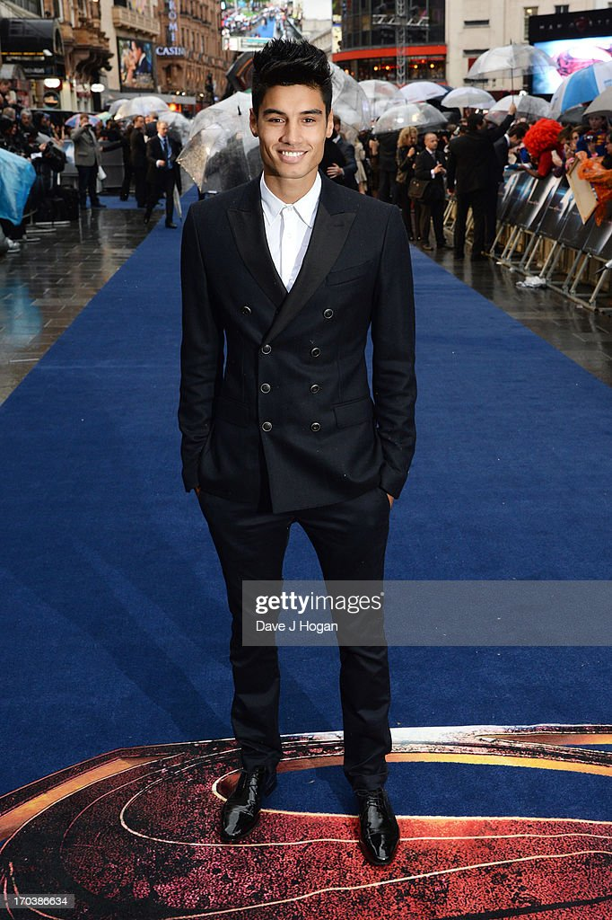 Siva Kaneswaran attends the European premiere of 'Man Of Steel' at The Empire Leicester Square on June 12, 2013 in London, England.