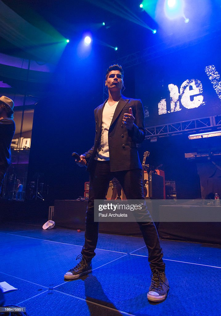 Siva Kaneswaran of the boy band The Wanted perform live at the 97.1 Amplify 2013 Concert at The Hollywood Palladium on April 12, 2013 in Los Angeles, California.
