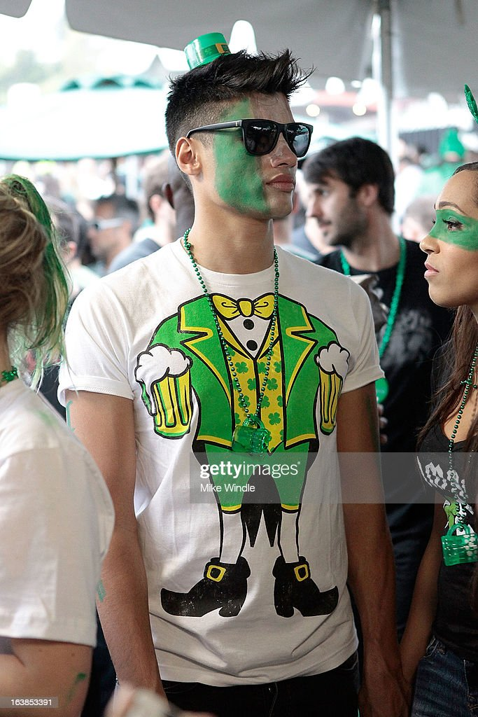Siva Kaneswaran of The Wanted attends Rock & Reilly's Irish Rock Pub hosts 2nd annual St. Paddy's block party on Sunset Strip on March 16, 2013 in West Hollywood, California.