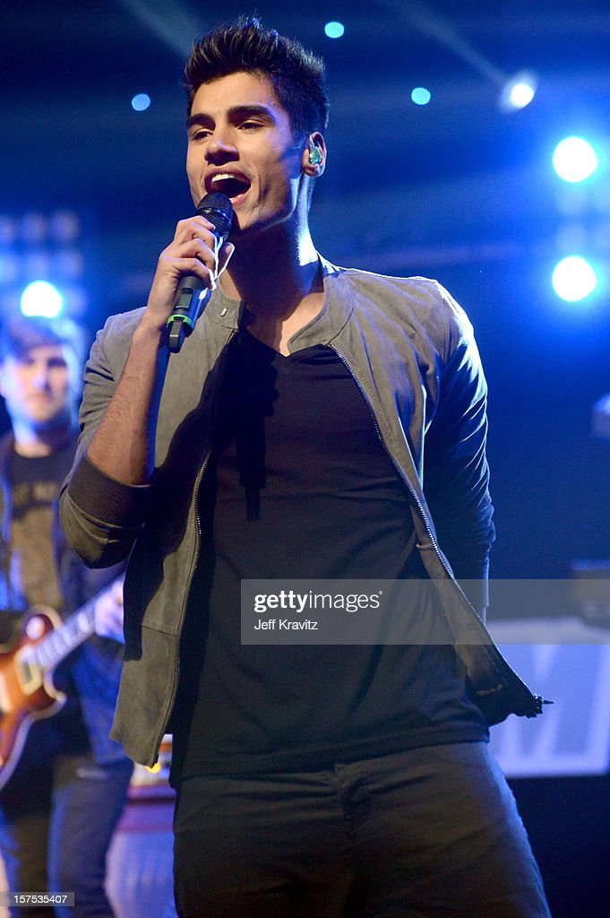 Siva Kaneswaran of The Wanted performs at KIIS-FM's Jingle Ball at Nokia Theatre LA Live on December 3, 2012 in Los Angeles, California.