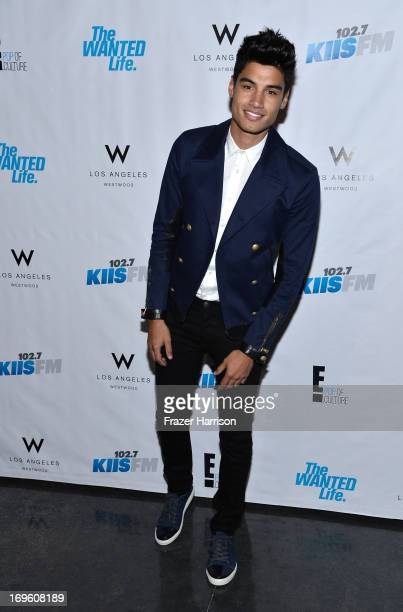 Siva Kaneswaran of the Wanted performs at the Viewing Party For The Premiere Of E Networks' 'The Wanted Life' at W Westwood on May 28 2013 in...