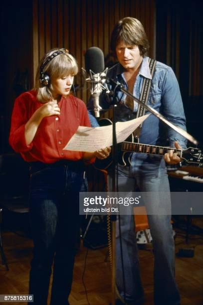 Siw Inger mit Gunter Gabriel im Plattenstudio