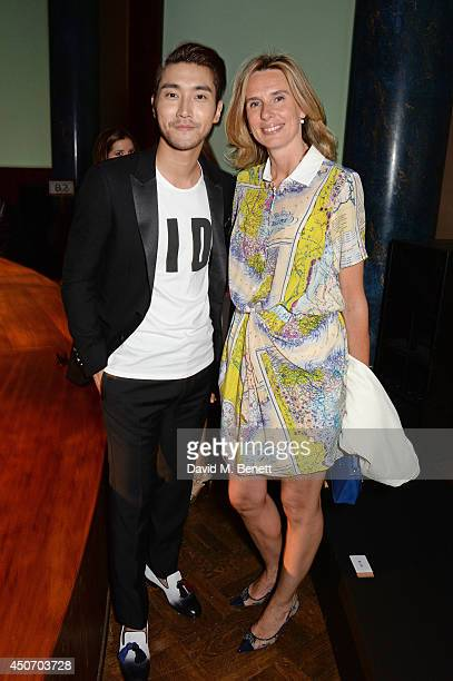 Siwon Choi and Pia Denis attend the Jimmy Choo Men's Show Spring Summer 2015 during London Collections Men on June 16 2014 in London England
