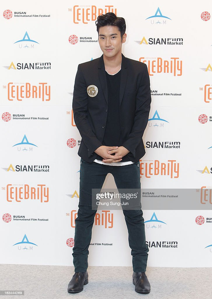 Siwon of Super Junior arrives for the United Asian Film Night at the Chosun hotel during the 18th Busan International Film Festival (BIFF) on October 6, 2013 in Busan, South Korea. The biggest film festival in Asia showcases 299 films from 70 countries and runs from October 3-12.