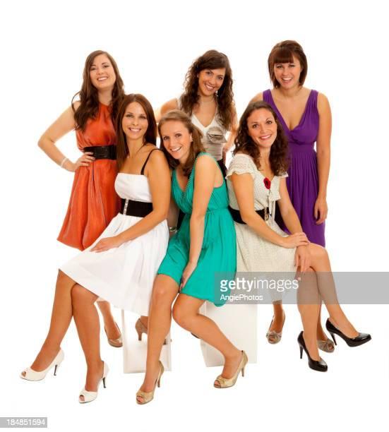 Sechs wunderschönen Freundinnen