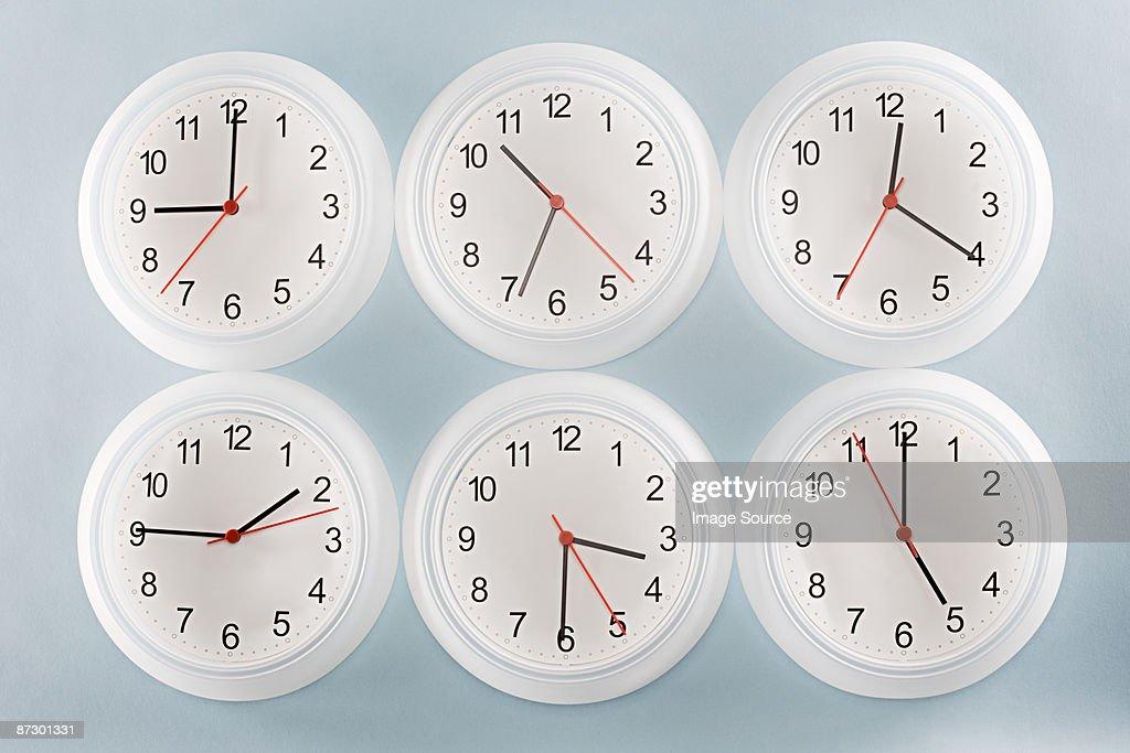 Six clocks