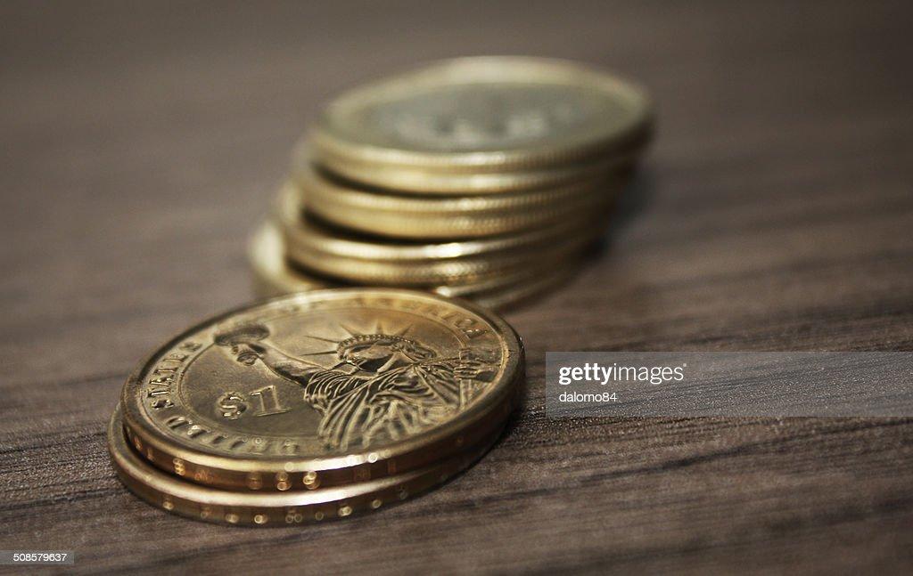 Sechs Münzen : Stock-Foto