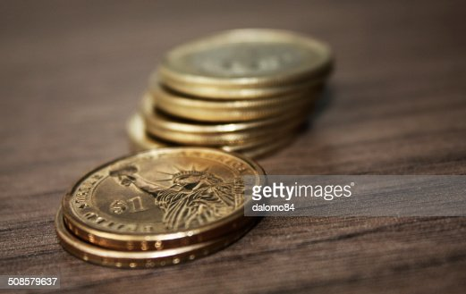 Six coins : Stock Photo
