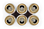 """""""Six empty aluminum beverage cans, isolated on white.Please also see:"""""""