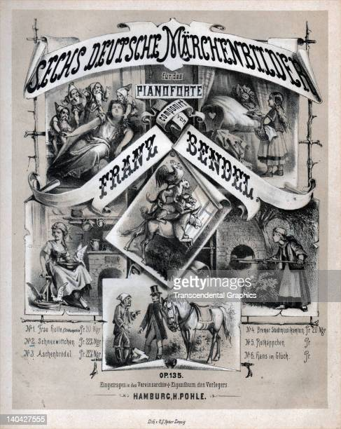 Six German Fairy Tale Pictures is the title of this piece of sheet music published in Hamburg Germany circa 1870