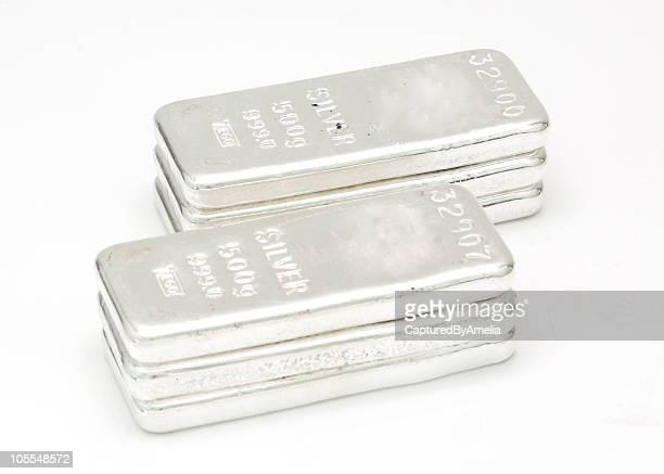 Six ingots of silver