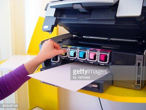 Six inks printer